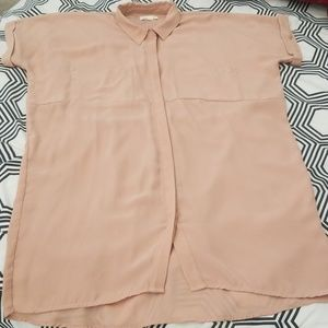 Silence + Noise Blush Shirt Dress